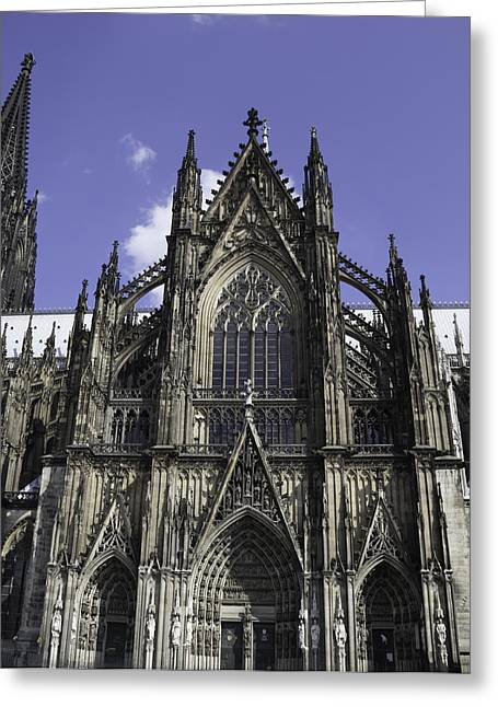 Medieval Entrance Greeting Cards - Cologne Cathedral 02 Greeting Card by Teresa Mucha