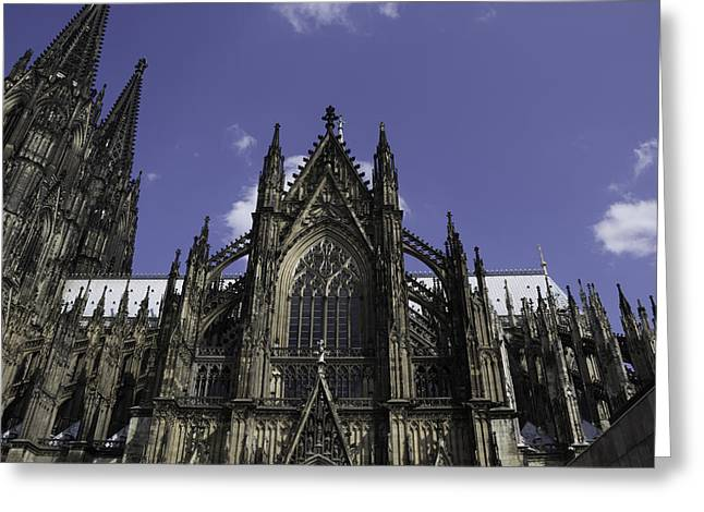 Medieval Entrance Greeting Cards - Cologne Cathedral 03 Greeting Card by Teresa Mucha