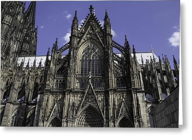 Medieval Entrance Greeting Cards - Cologne Cathedral 04 Greeting Card by Teresa Mucha