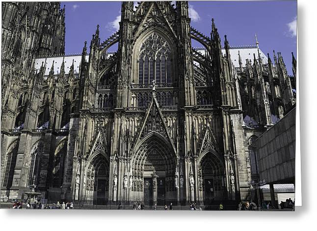 Glass Doors Greeting Cards - Cologne Cathedral 05 Greeting Card by Teresa Mucha