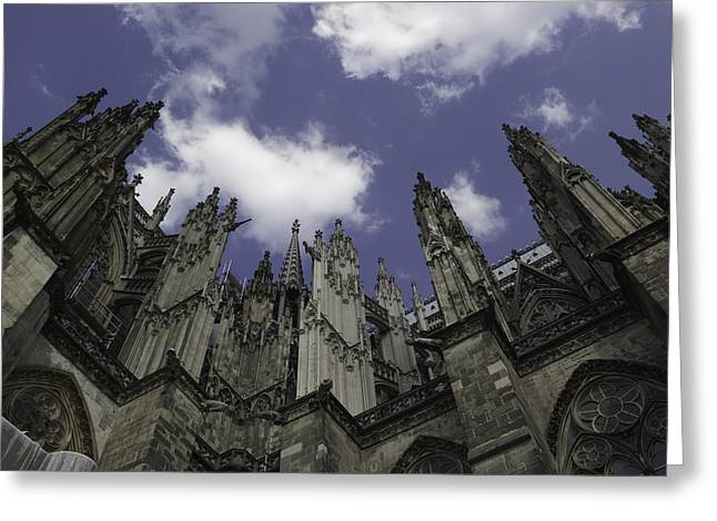 Church; Symbolism; Cathedral; Gargoyle Greeting Cards - Cologne Cathedral 16 Greeting Card by Teresa Mucha