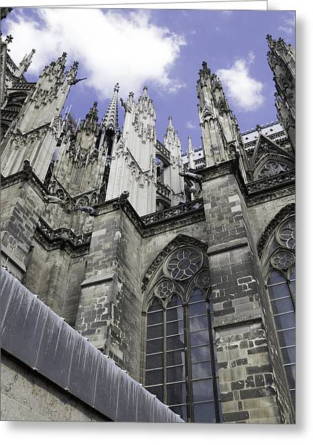 Church; Symbolism; Cathedral; Gargoyle Greeting Cards - Cologne Cathedral 17 Greeting Card by Teresa Mucha
