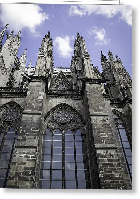 Drain Greeting Cards - Cologne Cathedral 18 Greeting Card by Teresa Mucha