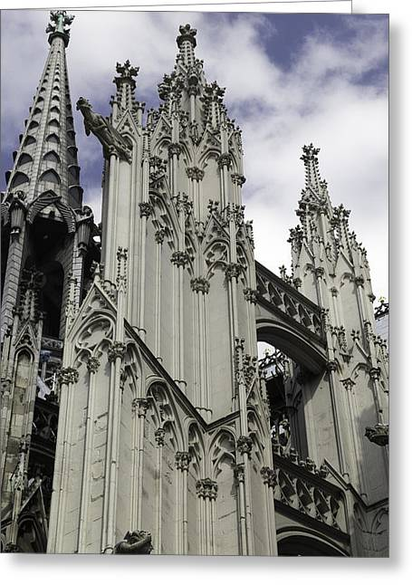 Church; Symbolism; Cathedral; Gargoyle Greeting Cards - Cologne Cathedral 19 Greeting Card by Teresa Mucha