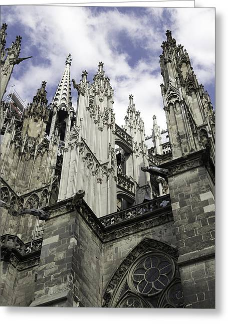 Church; Symbolism; Cathedral; Gargoyle Greeting Cards - Cologne Cathedral 20 Greeting Card by Teresa Mucha