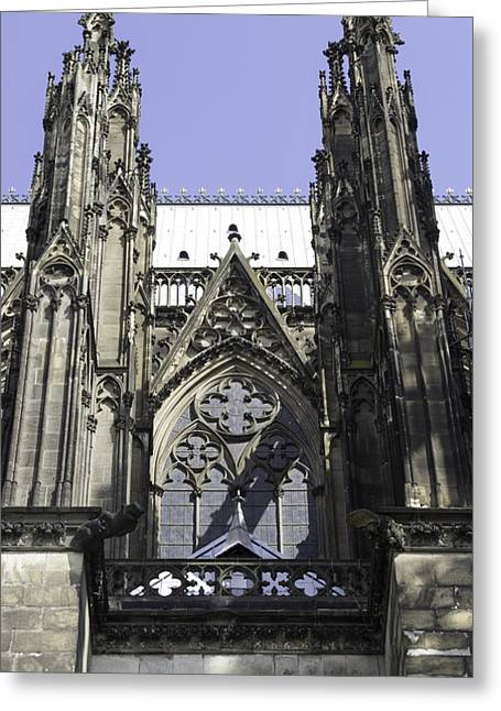 Church; Symbolism; Cathedral; Gargoyle Greeting Cards - Cologne Cathedral 23 Greeting Card by Teresa Mucha