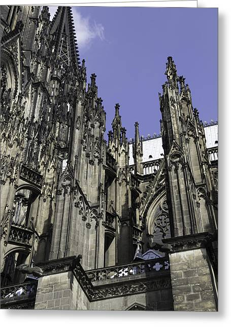 Church; Symbolism; Cathedral; Gargoyle Greeting Cards - Cologne Cathedral 24 Greeting Card by Teresa Mucha