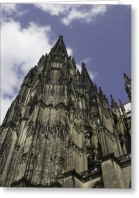 Church; Symbolism; Cathedral; Gargoyle Greeting Cards - Cologne Cathedral 25 Greeting Card by Teresa Mucha