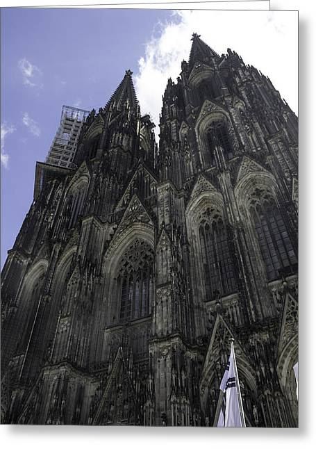 Medieval Entrance Greeting Cards - Cologne Cathedral 26 Greeting Card by Teresa Mucha