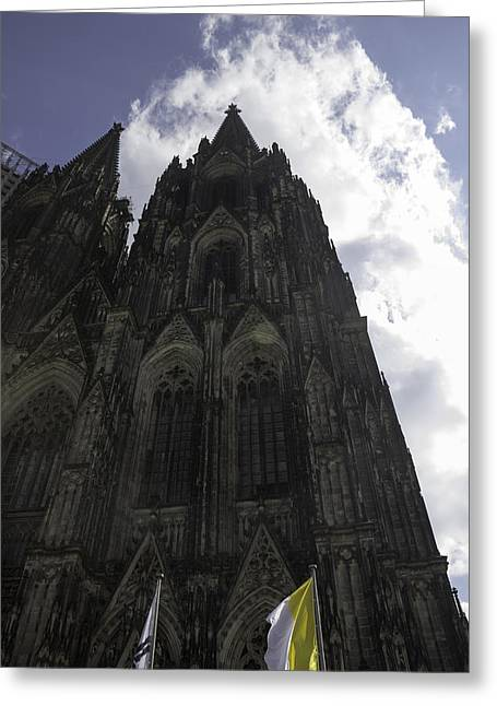 Medieval Entrance Greeting Cards - Cologne Cathedral 27 Greeting Card by Teresa Mucha