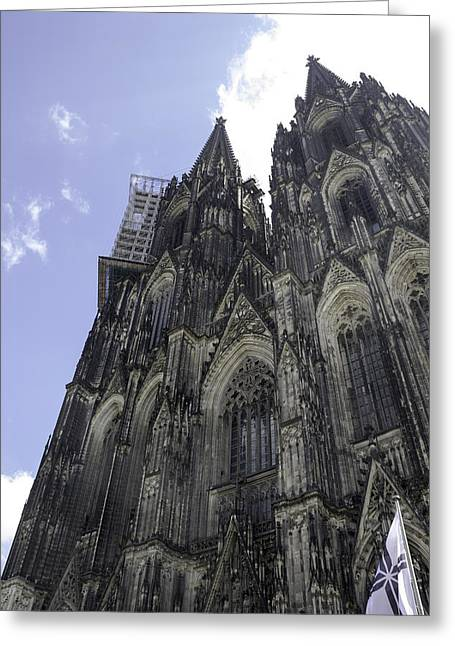 Church; Symbolism; Cathedral; Gargoyle Greeting Cards - Cologne Cathedral 28 Greeting Card by Teresa Mucha