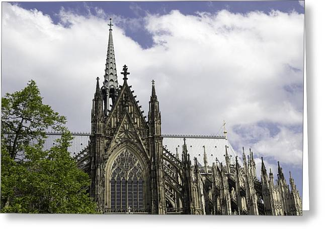 Church; Symbolism; Cathedral; Gargoyle Greeting Cards - Cologne Cathedral 33 Greeting Card by Teresa Mucha
