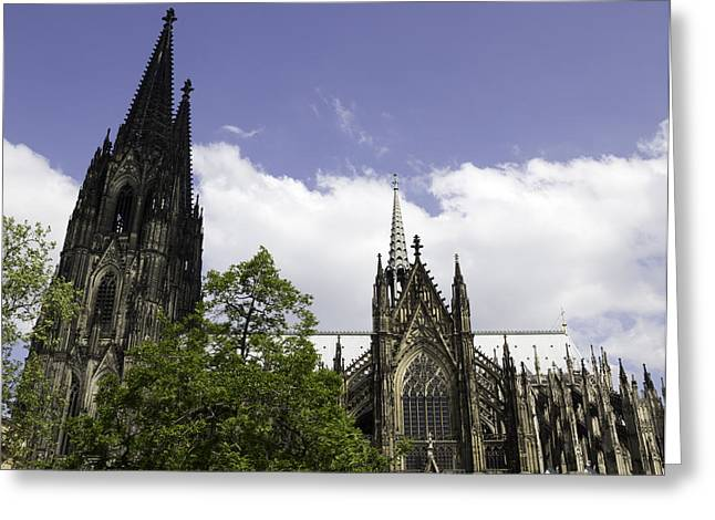 Medieval Entrance Greeting Cards - Cologne Cathedral 34 Greeting Card by Teresa Mucha