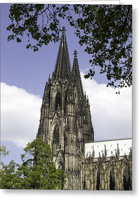 Medieval Entrance Greeting Cards - Cologne Cathedral 35 Greeting Card by Teresa Mucha