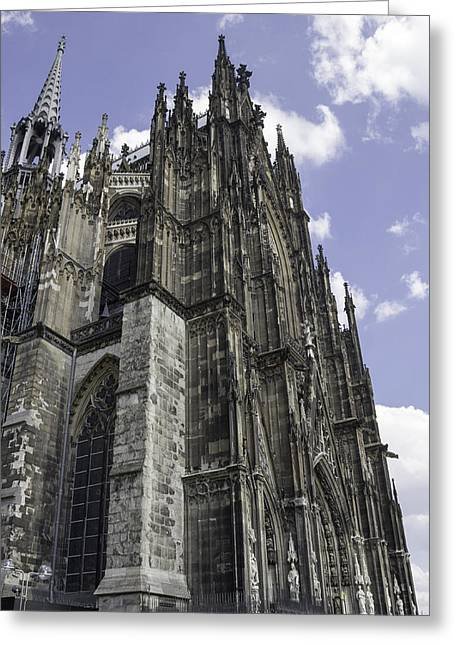 Medieval Entrance Greeting Cards - Cologne Cathedral 40 Greeting Card by Teresa Mucha