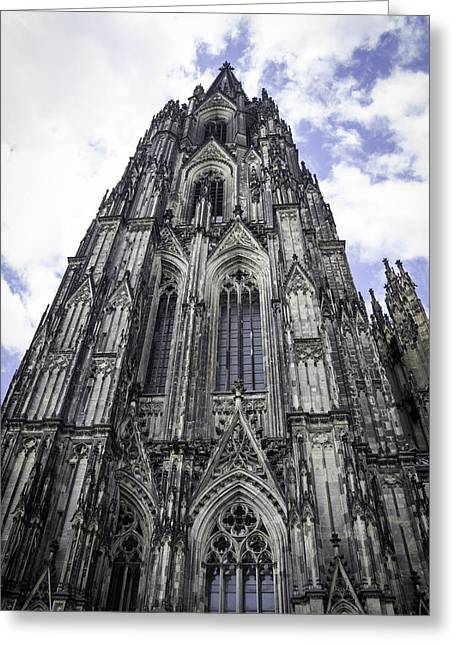 Medieval Entrance Greeting Cards - Cologne Cathedral 41 Greeting Card by Teresa Mucha