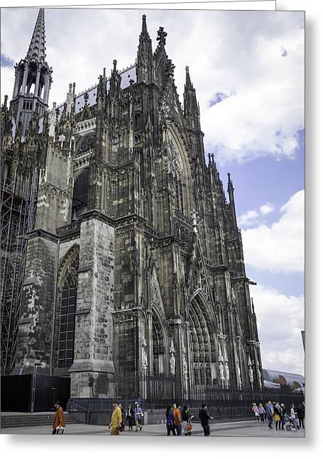 Medieval Entrance Greeting Cards - Cologne Cathedral 42 Greeting Card by Teresa Mucha