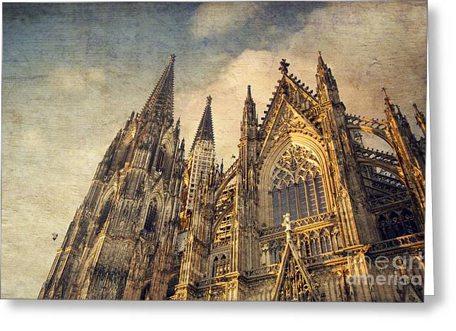 Fenster Photographs Greeting Cards - Cologne Cathedral Greeting Card by Dirk Wuestenhagen