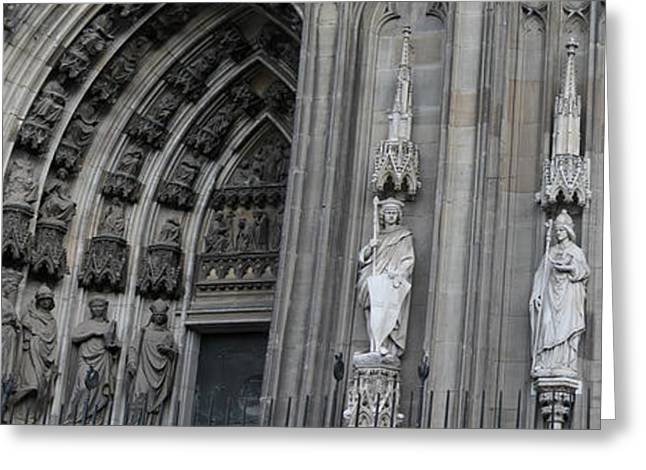 Historic Site Greeting Cards - Cologne Cathedral South Side Detail 1 Greeting Card by Teresa Mucha