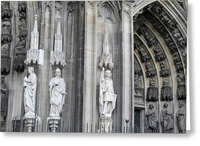 Historic Site Greeting Cards - Cologne Cathedral South Side Detail 2 Greeting Card by Teresa Mucha