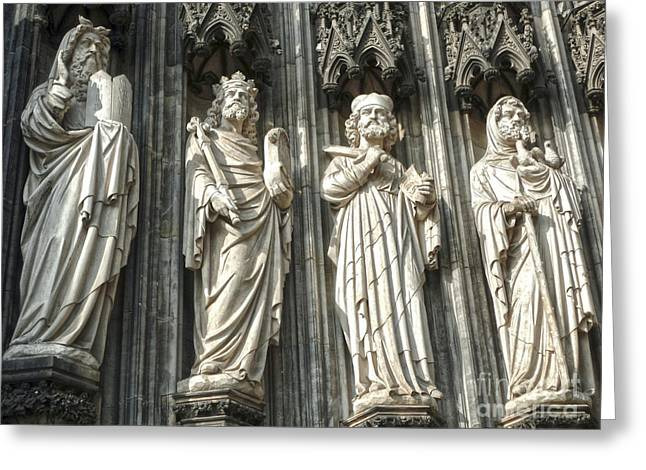 Cologne Germany - High Cathedral Of St. Peter - 06 Greeting Card by Gregory Dyer