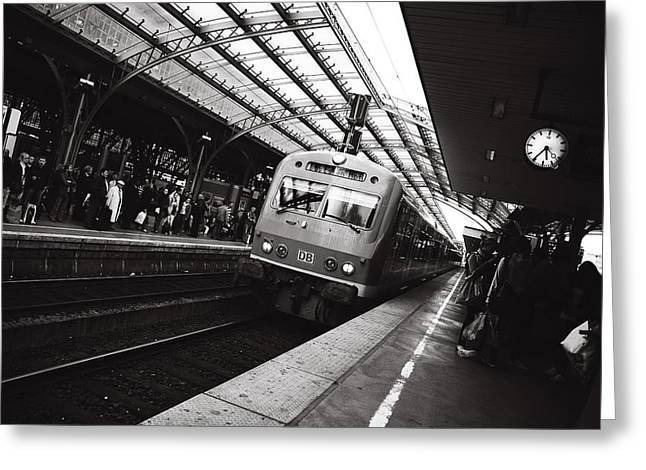 Cologne Trainstation Greeting Card by Jimmy Karlsson