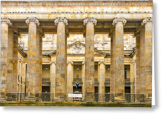 Colombian Senate Facade Greeting Card by Jess Kraft