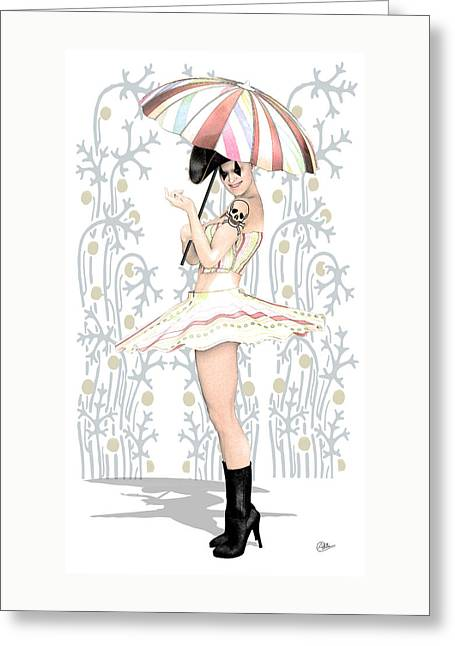 Vaudeville Greeting Cards - Daisy Commedia dellarte  Greeting Card by Quim Abella