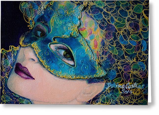 Colombina's Sight Greeting Card by Dorina  Costras