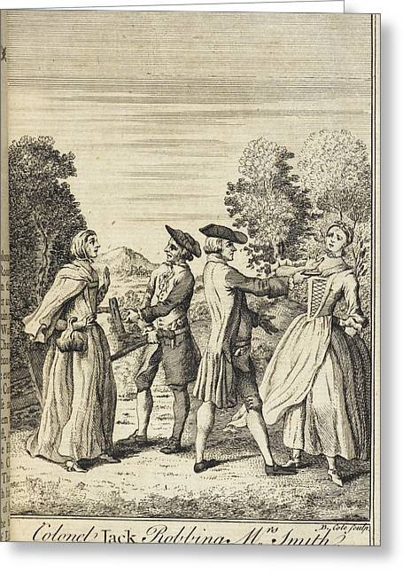 Colonel Jack Robbing Mrs Smith Greeting Card by British Library