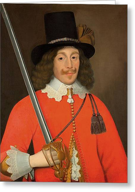 Civil Greeting Cards - Colonel John Hutchinson, C.1643 Greeting Card by John Souch