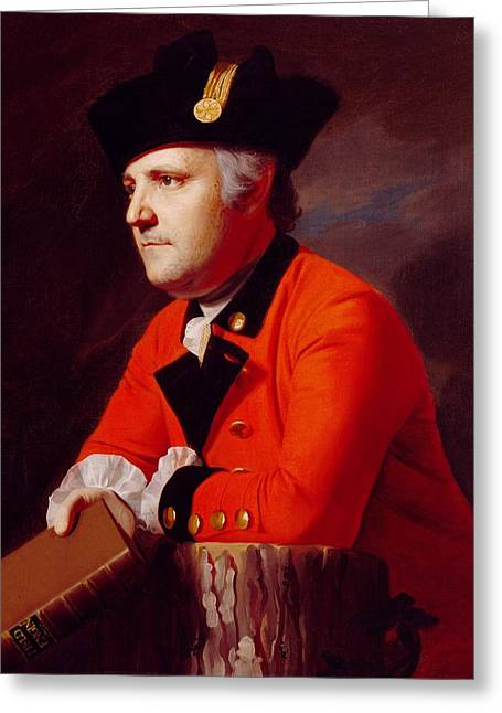 Book Jacket Greeting Cards - Colonel John Montresor Greeting Card by John Singleton Copley