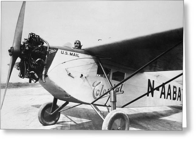 Colonial Air Transport Greeting Card by Henri Bersoux