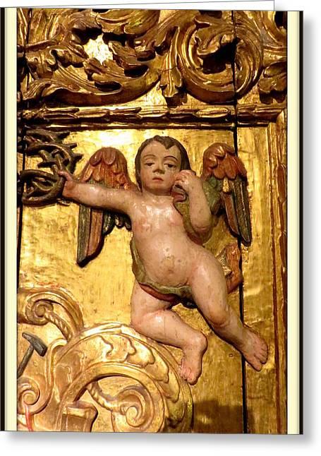 Seraphim Angel Greeting Cards - Colonial Angel Greeting Card by Daniel Gomez