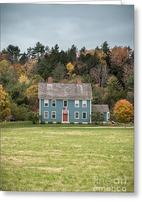 Fall Colors Greeting Cards - Colonial Home Greeting Card by Edward Fielding