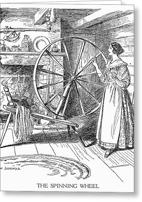 Colonial Spinner Greeting Card by Granger