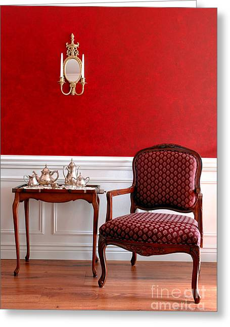Decorators Greeting Cards - Colonial Style Greeting Card by Olivier Le Queinec