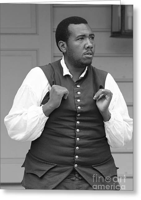 Colonial Actors Greeting Cards - Colonial Williamsburg actor Greeting Card by Dwight Cook