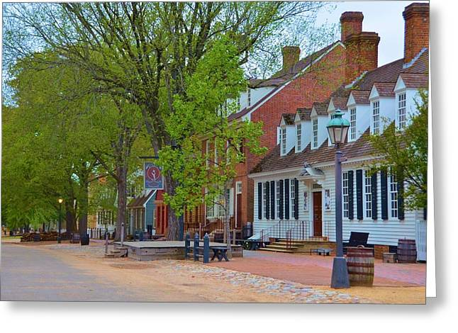 Founders Tree Greeting Cards - Colonial Williamsburg Greeting Card by Richard Jenkins