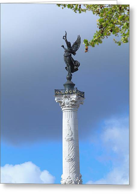 Girondin Greeting Cards - Colonnes des Girondins Bordeaux Greeting Card by Rostislav Ageev