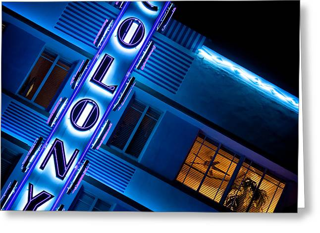 Glowing Greeting Cards - Colony Hotel 1 Greeting Card by Dave Bowman