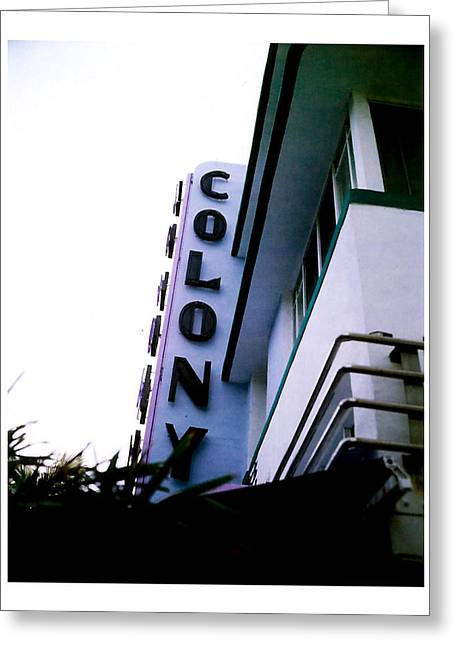 Colony Polaroid Greeting Card by Gary Dean Mercer Clark