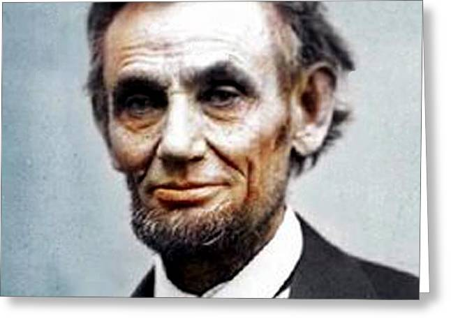Abraham Lincoln Pictures Greeting Cards - Color Abe Lincoln Greeting Card by Paul Van Scott