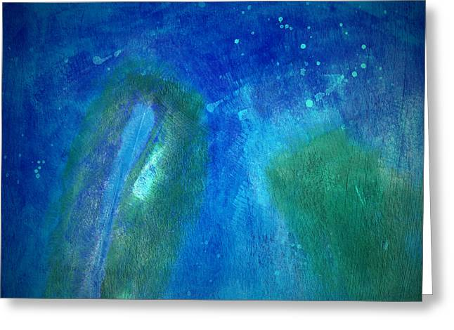 Color Abstraction VIII Greeting Card by David Gordon