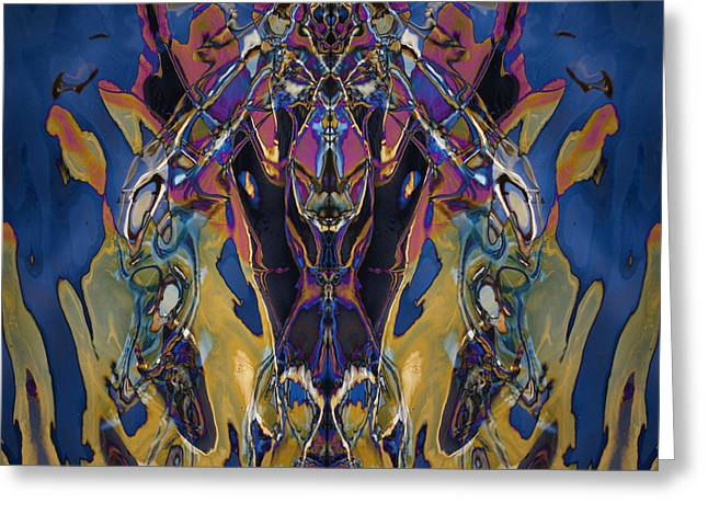Inverted Color Greeting Cards - Color Abstraction XXI Greeting Card by David Gordon