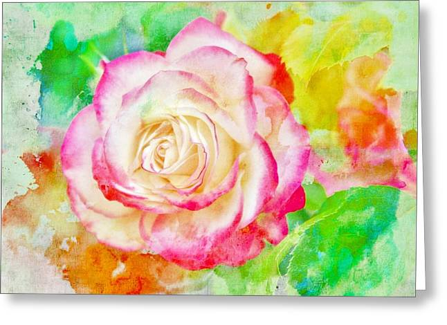 Rose Red City Greeting Cards - Color and Rose Greeting Card by Cathie Tyler