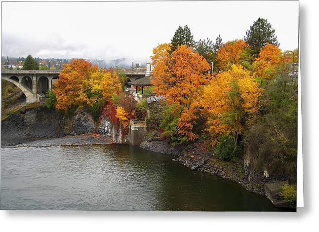 Spokane Greeting Cards - COLOR at the MONROE ST BRIDGE Greeting Card by Daniel Hagerman