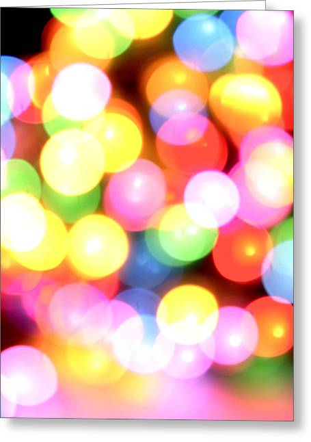 Light Effects Greeting Cards - Color blurs Greeting Card by Les Cunliffe