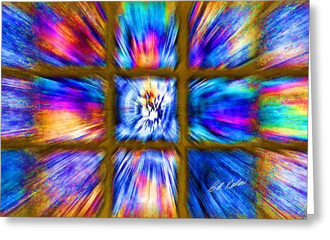 Bill Kesler Greeting Cards - Color Burst - Horizontal Layout Greeting Card by Bill Kesler