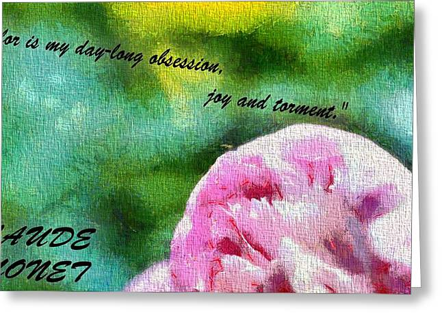 Torment Greeting Cards - Color Claude Monet Greeting Card by Dan Sproul